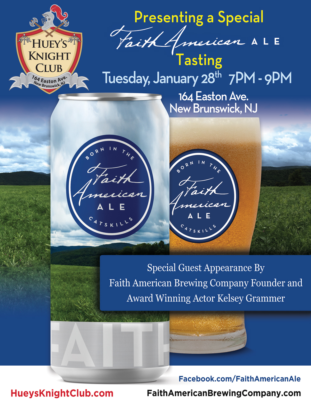 A Special Faith American Ale Tasting Event at Huey's Knight Club