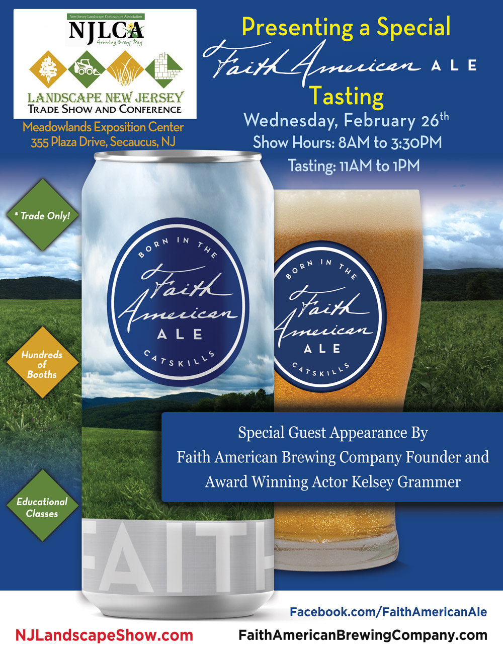 A Special Faith American Ale Tasting Event at The Landscape New Jersey 2020 Show