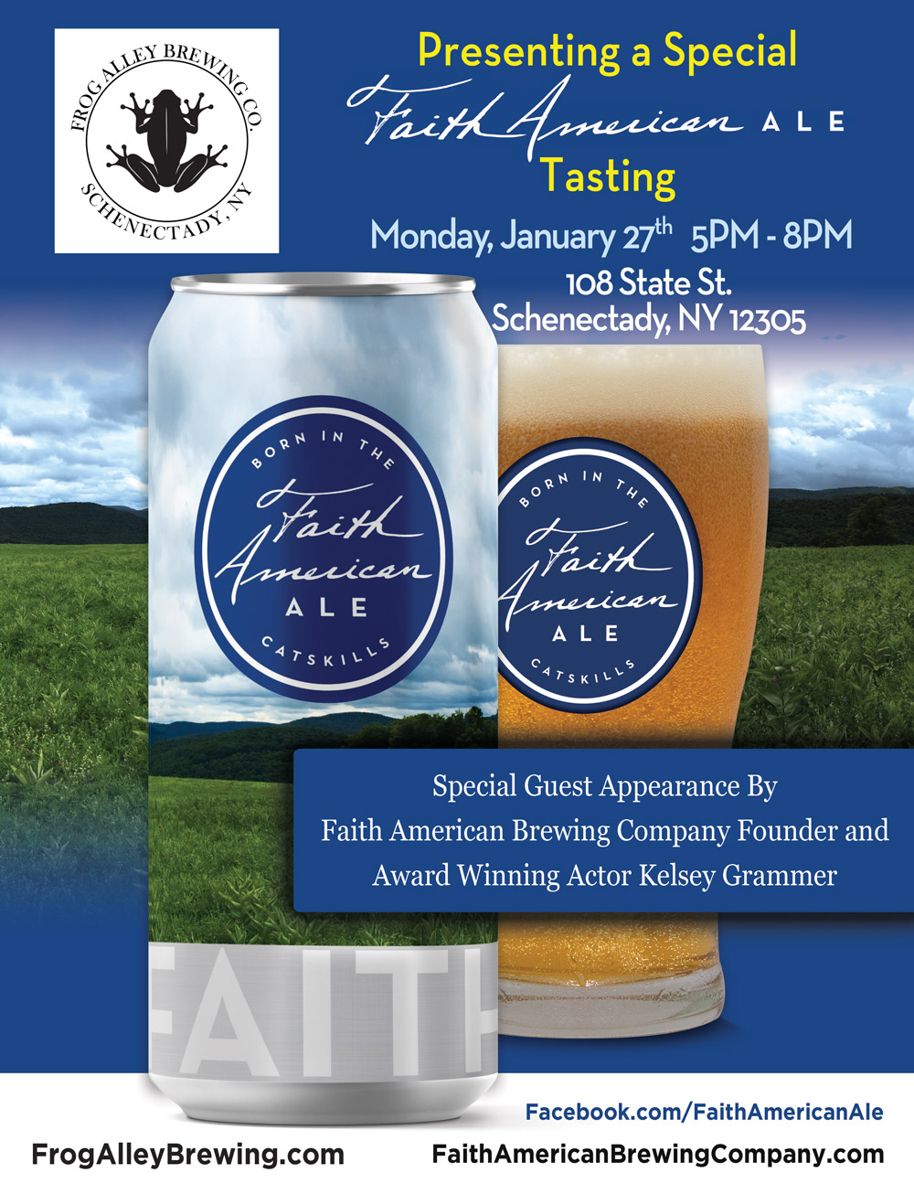 A Special Faith American Ale Tasting Event at Frog Alley Brewing Co