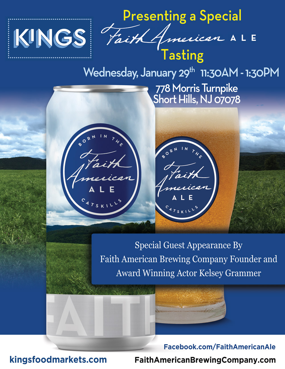 A Special Faith American Ale Tasting Event at Kings Food Market