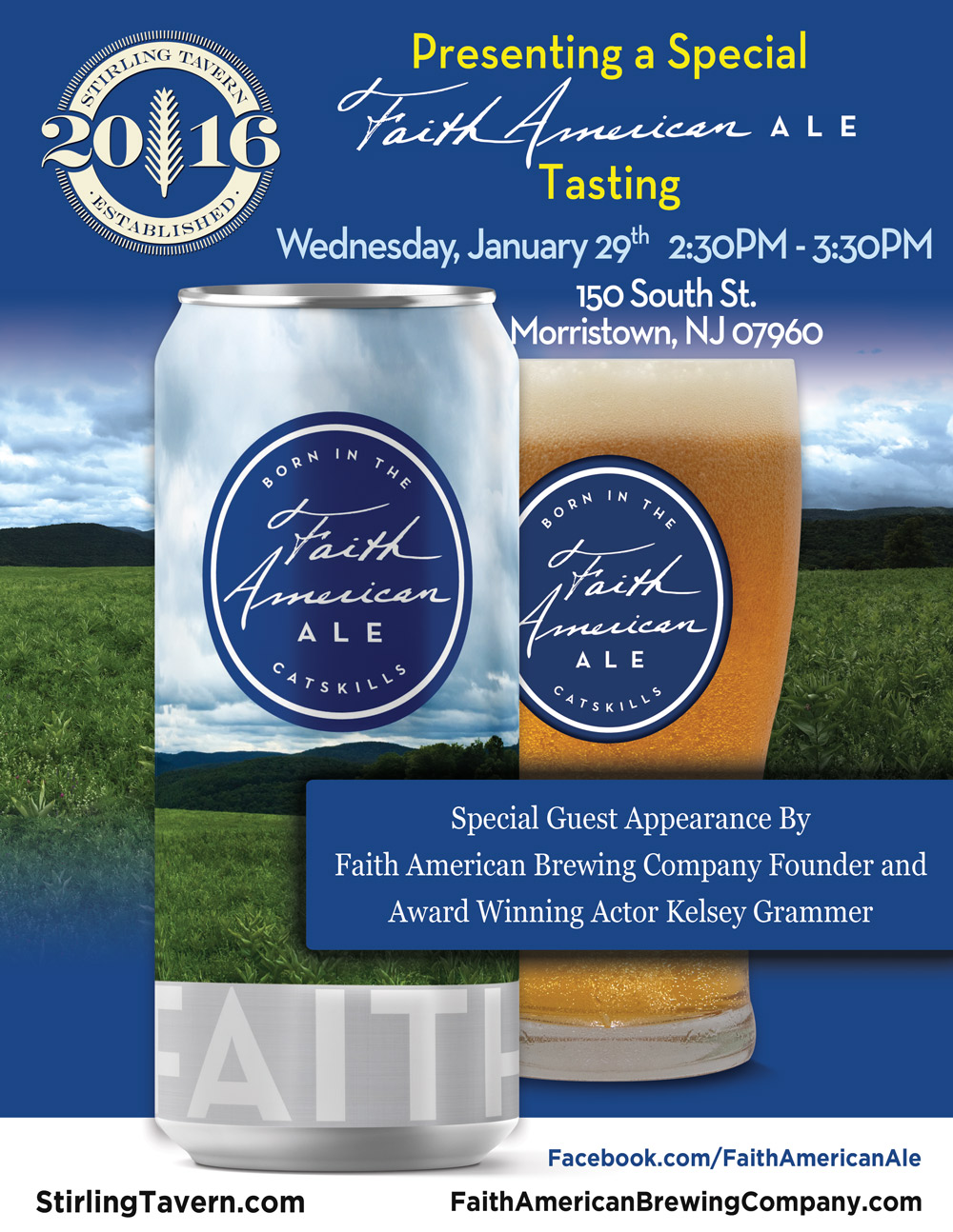 A Special Faith American Ale Tasting Event at Stirling Tavern
