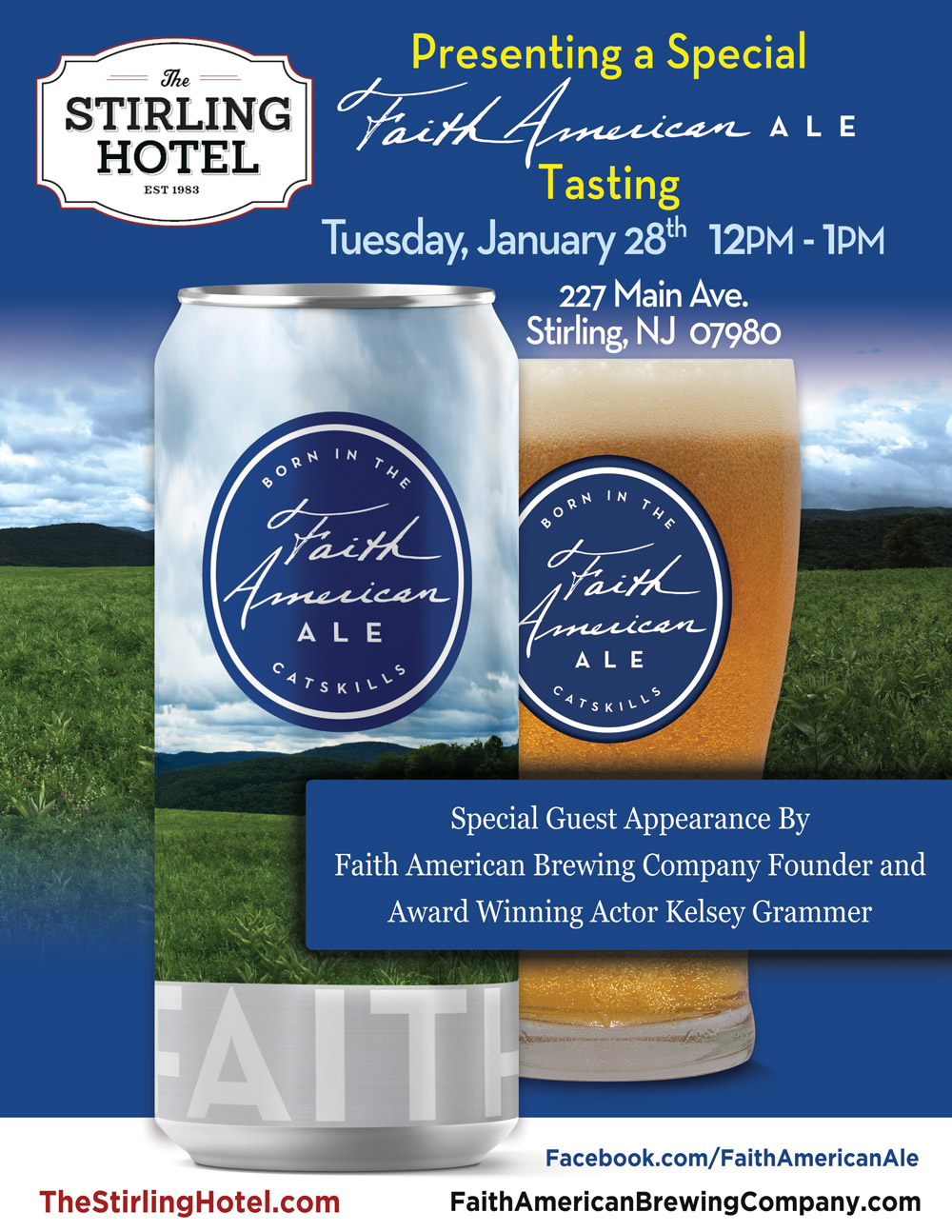 A Special Faith American Ale Tasting Event at The Stirling Hotel