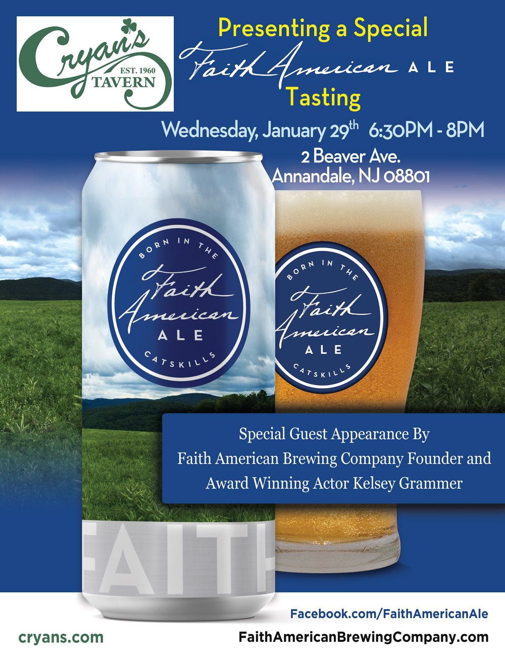 Faith American Ale Tasting at Cryan's Tavern