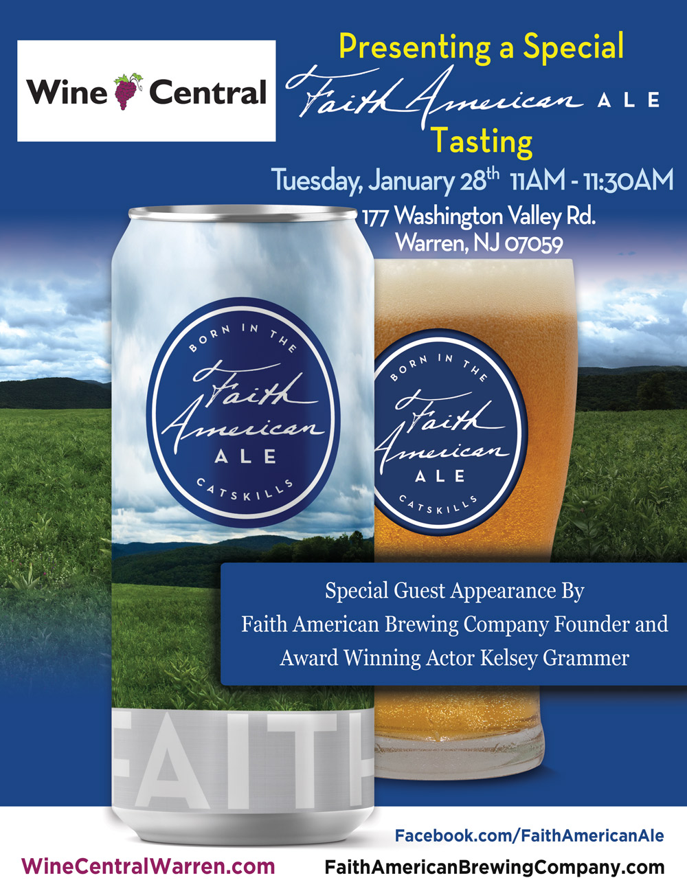 Faith American Ale Tasting Event at Wine Central in Warren NJ