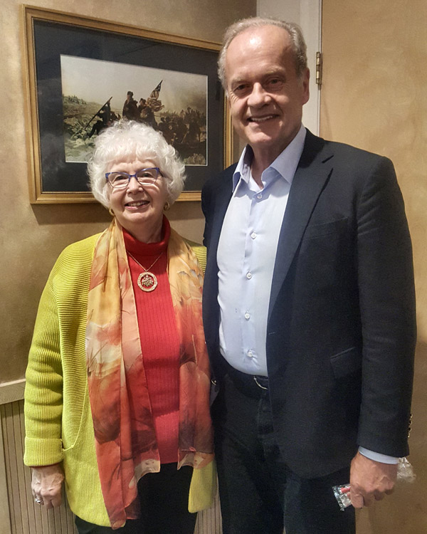 The Garden Club of NJ President meets with Kelsey Grammer