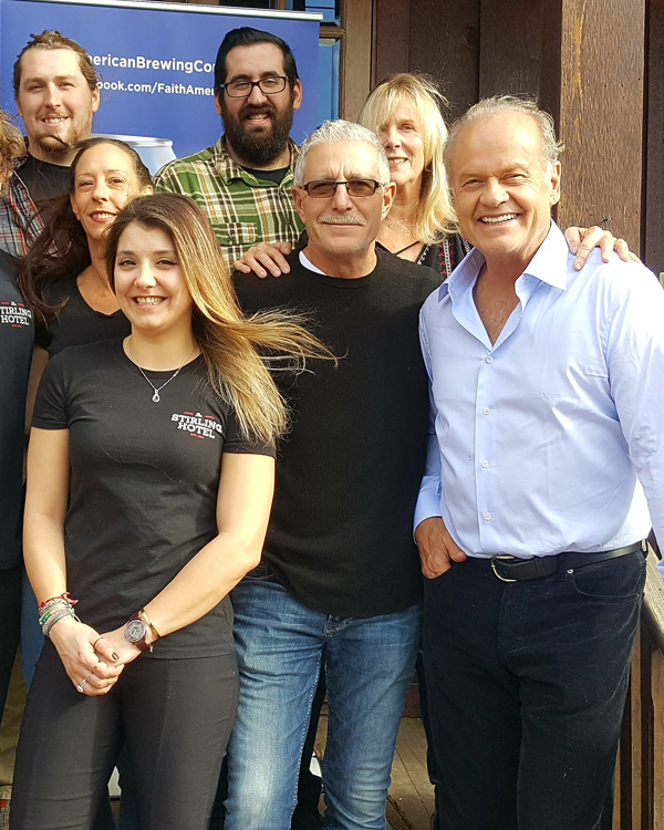 Stirling Tavern hosts Kelsey Grammer and Faith American Ale