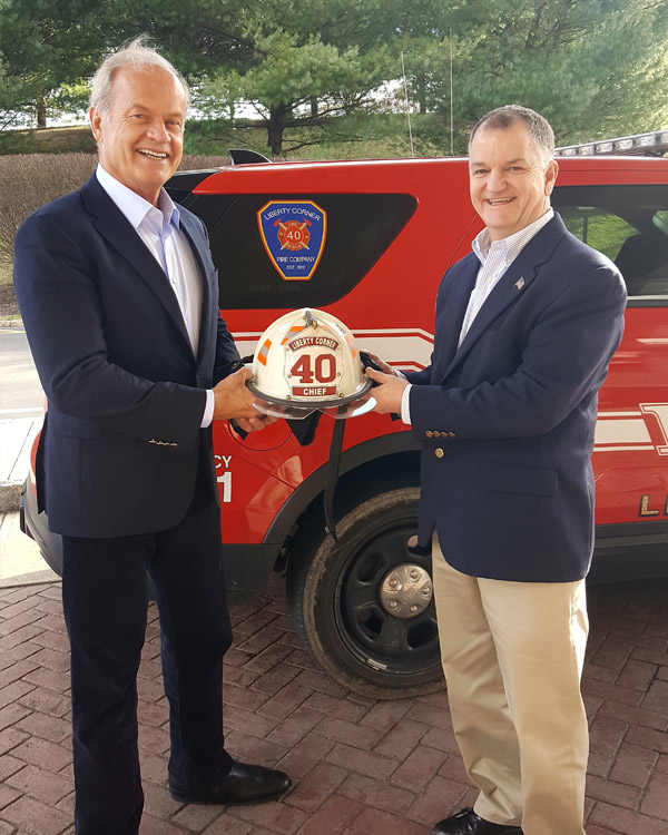 Liberty Corner Fire Chief welcomes Kelsey Grammer