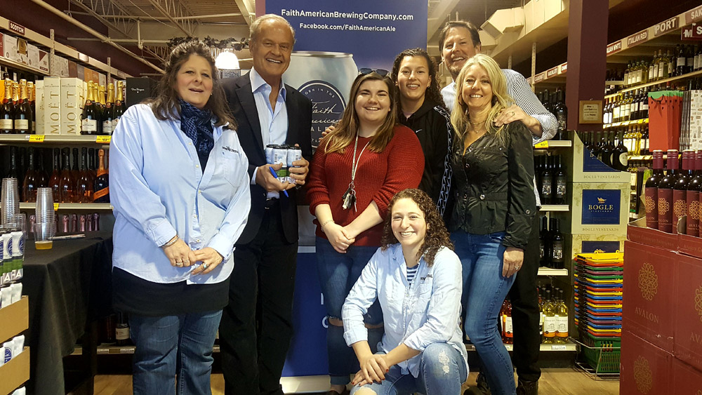 Wine Central hosts Kelsey Grammer and Faith American Ale